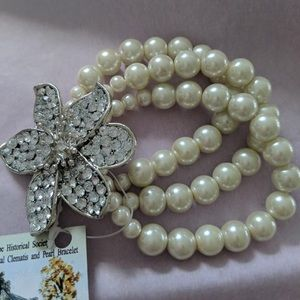 Limited edition crystal and pearl bracelet